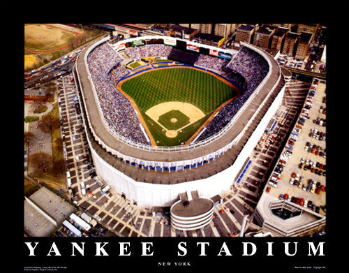 New York Yankees Yankee Stadium Aerial Poster - Aerial Views 1992