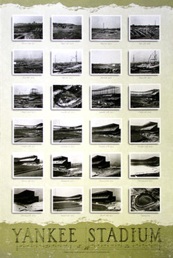 Yankee Stadium Construction Chronological Photographs 1922-23 Poster - Ballpark Classics