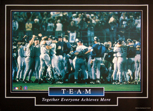 "New York Yankees ""Team"" (1998 World Champs) Baseball Motivational Poster - Brockworld"