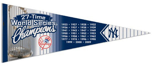 "New York Yankees ""World Series Years"" Premium Felt Collector's Pennant - Wincraft"