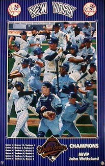 New York Yankees 1996 World Series Champions Theme Art Poster - Action Images