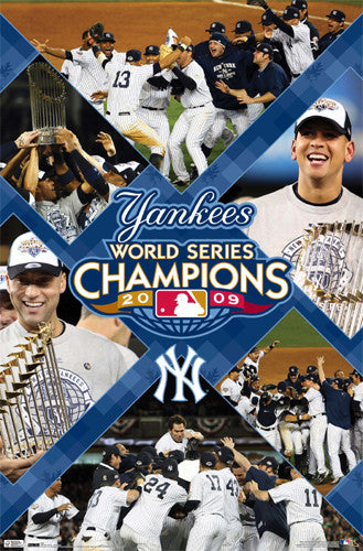 New York Yankees 2009 World Series Champions Commemorative Poster - Costacos Sports