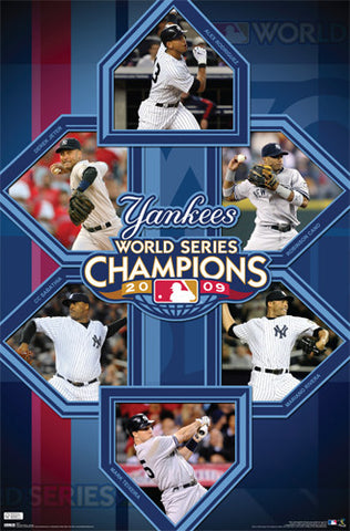 New York Yankees World Series Champions 2009 Commemorative Poster - Costacos