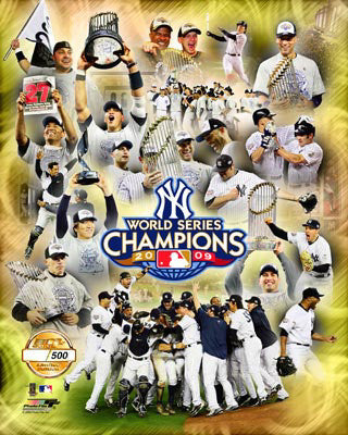 New York Yankees 2009 World Series Champions Premium PF Gold Poster Print (L.E. /500) - Photofile Inc.