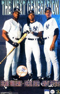 "New York Yankees ""Next Generation"" Poster (Jeter, Williams, Pettitte) - Starline 1998"