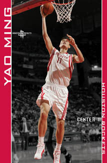 "Yao Ming ""Tower"" Houston Rockets Poster - Costacos 2006"