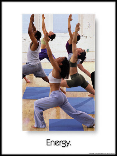 "Yoga ""Energy"" Motivational Poster - Fitnus Corp."