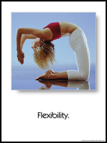 "Yoga ""Flexibility"" (Camel Pose) Motivational Poster - Fitnus Corp."