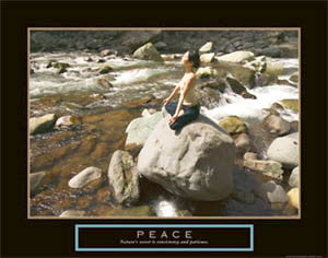 "Yoga ""Peace"" Inspirational Poster - Front Line"