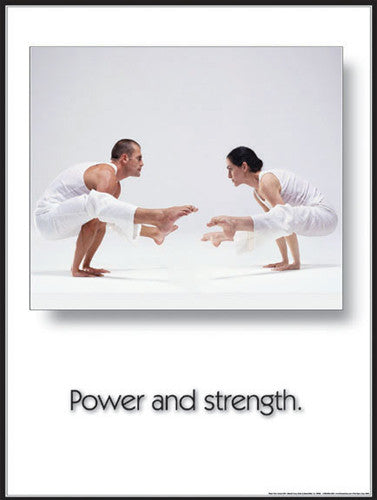 "Yoga ""Power and Strength"" Motivational Poster - Fitnus Corp."
