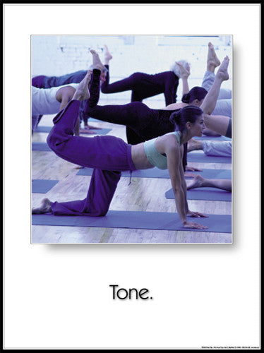 "Yoga ""Tone"" (Tiger Pose) Motivational Poster - Fitnus Corp."