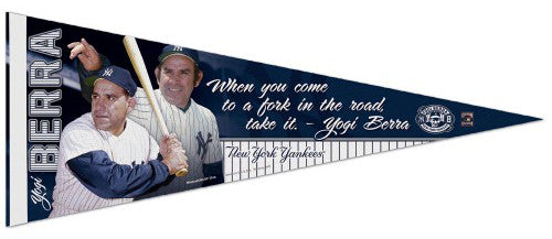 Yogi Berra New York Yankees Official MLB Commemorative Premium Felt Pennant - Wincraft