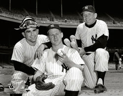 "New York Yankees ""Yogi, Whitey and The Mick"" (1956) Premium Poster Print - Photofile"