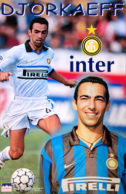 "Youri Djorkaeff ""Superstar"" FC Inter Milan Football Soccer Action Poster - Starline Inc. 1999"
