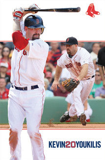 "Kevin Youkilis ""Dual Action"" Boston Red Sox MLB Action Poster - Costacos 2012"