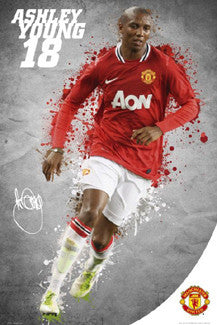 "Ashley Young ""Superstar"" Action Poster - GB Eye (UK), 2011"