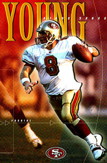 "Steve Young ""Paydirt"" San Francisco 49ers Poster - Costacos 1999"