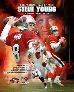"Steve Young ""Class of 2005"" HOF Commemorative Print - Photofile Inc."