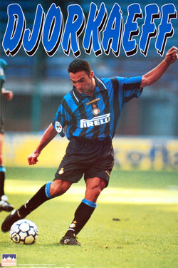 "Youri Djorkaeff ""Inter Milan Action"" Soccer Poster - Starline Inc. 1997"