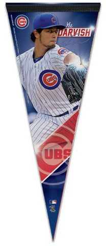 Yu Darvish Chicago Cubs Signature Series Premium Felt Collector's PENNANT - Wincraft