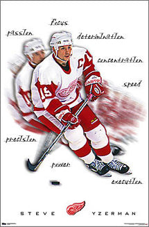 "Steve Yzerman ""Inspiration"" Detroit Red Wings Poster - Costacos 2000"