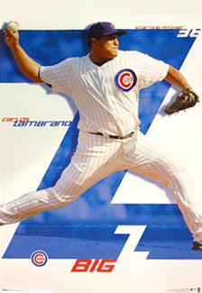 "Carlos Zambrano ""Big Z"" Chicago Cubs Poster - Costacos 2008"