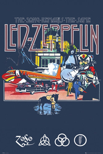 Led Zeppelin The Song Remains The Same (1976) Movie Poster Art Poster - GB Eye (UK)