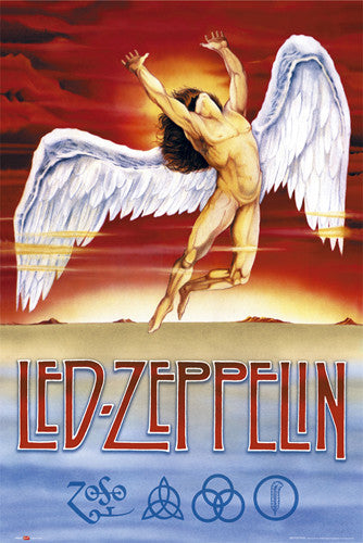 Led Zeppelin Swan Song Records Logo Art Poster - GB Eye (UK)