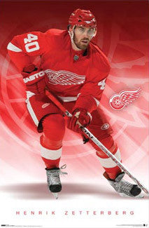 "Henrik Zetterberg ""Superstar"" Detroit Red Wings Poster - Costacos Sports"
