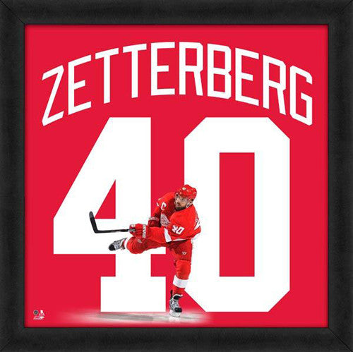 "Henrik Zetterberg ""Number 40"" Detroit Red Wings FRAMED 20x20 UNIFRAME PRINT - Photofile"