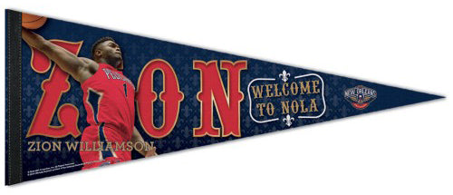"Zion Williamson ""Welcome to NOLA"" New Orleans Pelicans Premium Felt Collector's Pennant - Wincraft 2019"
