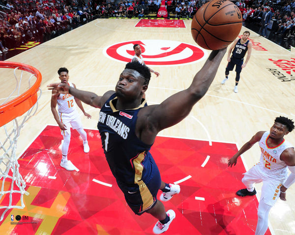 "Zion Williamson ""Super Slam"" New Orleans Pelicans Premium 16x20 NBA Basketball Poster Print- Highland Mint"
