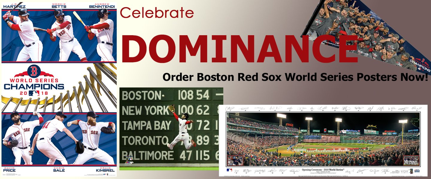 Boston Red Sox 2018 World Series Champions Posters