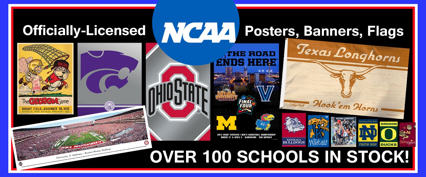 NCAA College Sports Posters