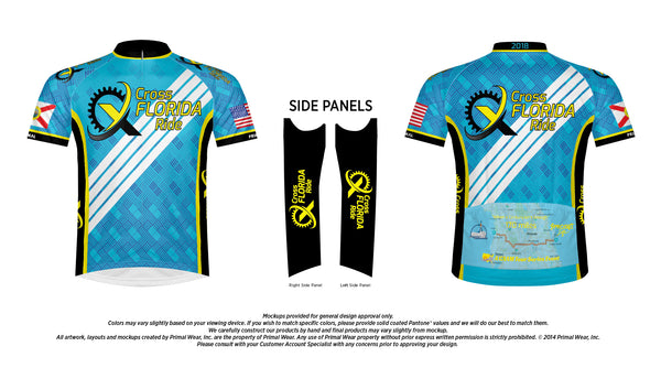 Cross Florida Ride Jersey 2018 - Blue