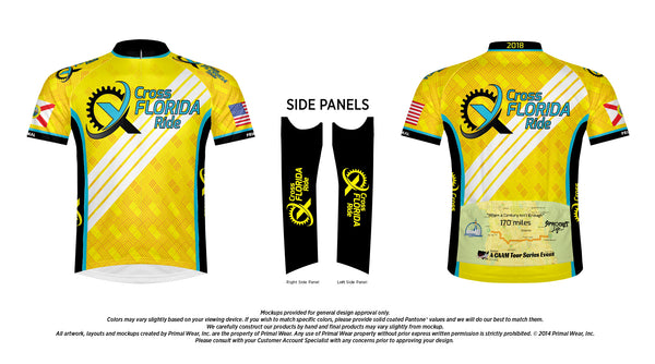 Cross Florida Ride Jersey 2018  - Yellow