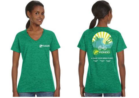 Flagler Fondo V-Neck - Green