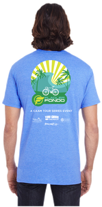 Flagler Fondo 2017 Tee - Heather Blue