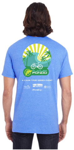 Flagler Fondo Tee - Heather Blue