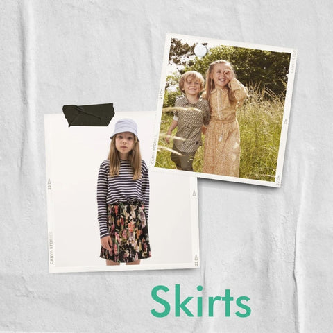 Floral skirts from MINI A TURE and Christina Rohde