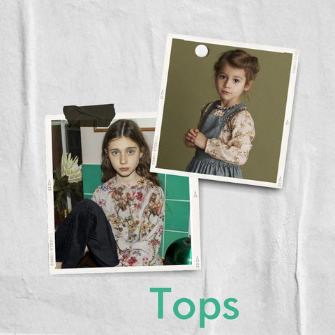 Floral tops from MINI A TURE and Christina Rohde