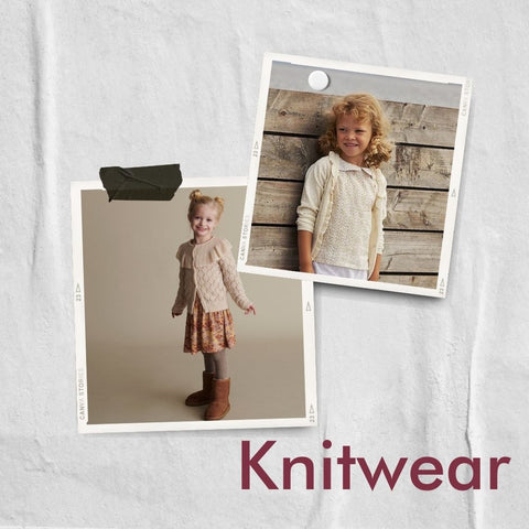 Polaroid collage of cardigans for girls from Mini A Ture