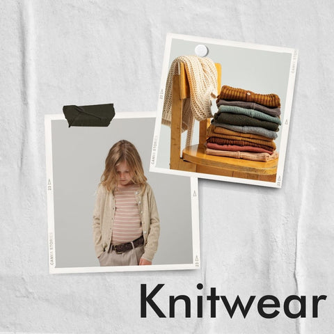 Polaroid collage of knitwear and cardigans from MarMar Copenhagen
