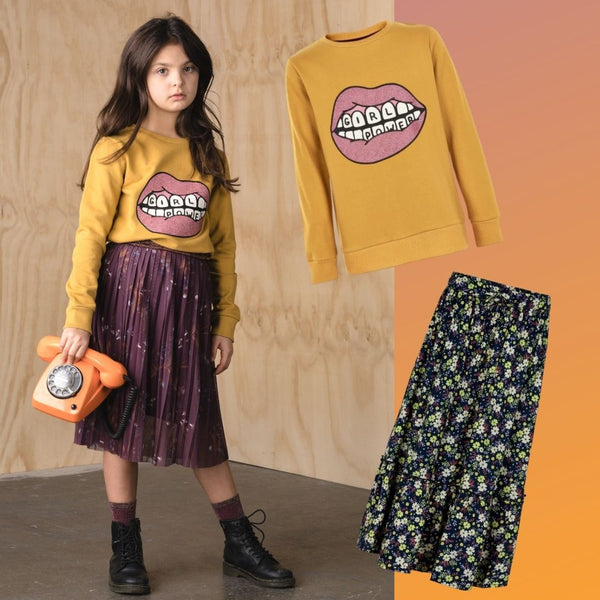 Autumn layering outfit for girls from The New