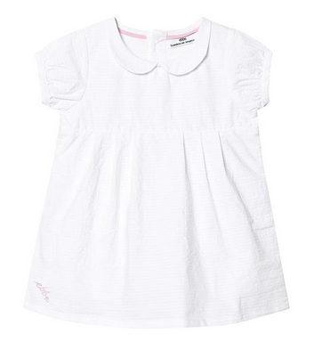 white peter pan collar dress baby girl