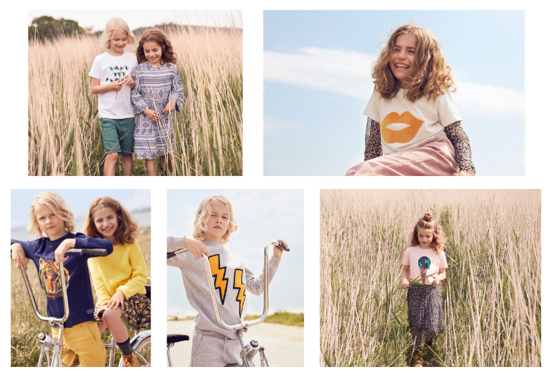 Children wearing clothing by Danish brand The New