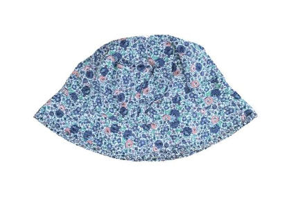Wheat girls reversible hat blue