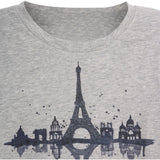 Wheat long sleeve t-shirt Paris in soft melange grey