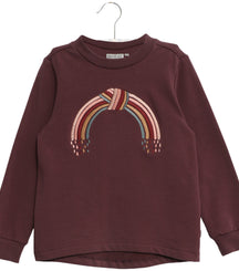 Wheat sweater Rainbow embroidery