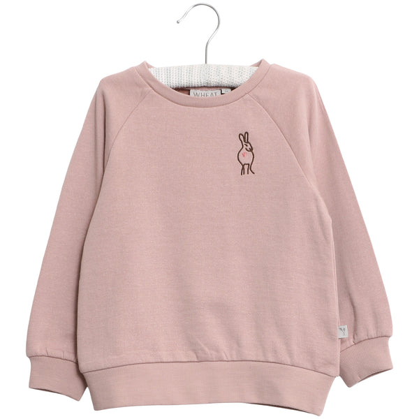 Wheat wool sweater Rabbit in pink